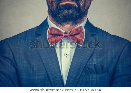 Retrato cavalheiro azul terno ombro Foto stock © feedough