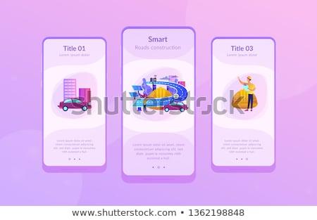 Smart roads construction app interface template. Stock photo © RAStudio