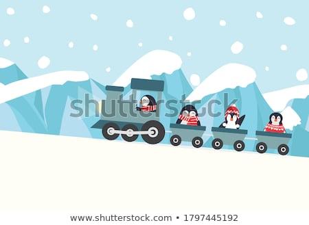 kinderen · paardrijden · trein · gelukkig · vrienden · leuk - stockfoto © colematt