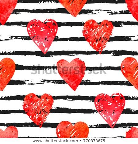 aranyos · rózsaszín · vektor · szívek · textúra · valentin · nap - stock fotó © lemony