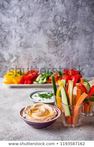 Snacks bar groenten gezonde tomaat peper Stockfoto © furmanphoto