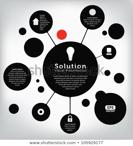 Infographics Systematized Information Presentation Stock photo © robuart