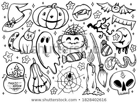 cômico · pop · monstro · vetor · ilustração · ícone - foto stock © blue_daemon