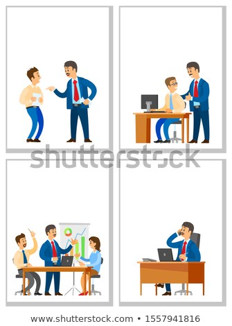 Bad and Good Job, Business Meeting and Telephone Stock photo © robuart
