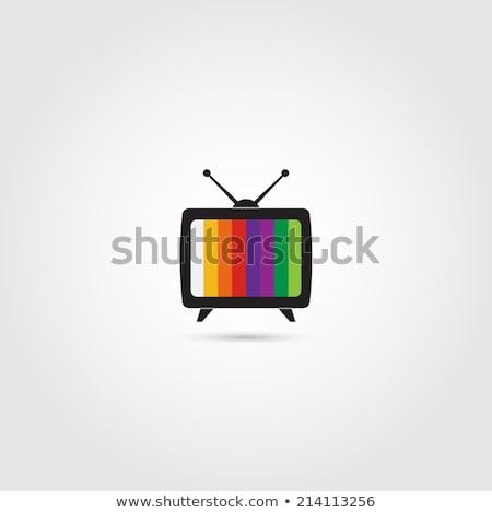 вектора · набор · телевидение · Cartoon · дизайна · рот - Сток-фото © olllikeballoon