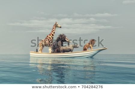 Animals in boat stock photo © colematt