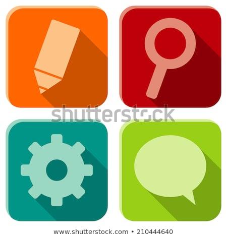 szett · különböző · szövegbuborékok · izolált · fehér · sziluett - stock fotó © beholdereye