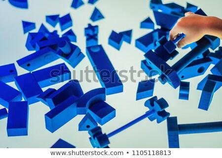 Blue children's design kit on a luminous table Stock photo © galitskaya
