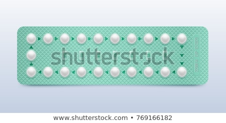 Realistic Female Oral Contraceptive Pills Vector Stock fotó © pikepicture