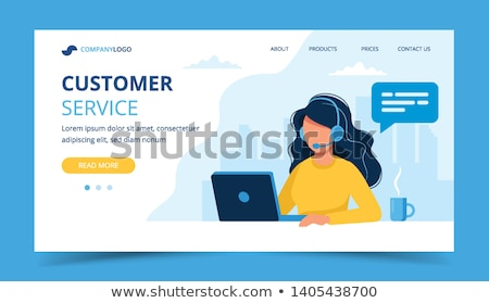 Call center concept landing page. Stock photo © RAStudio