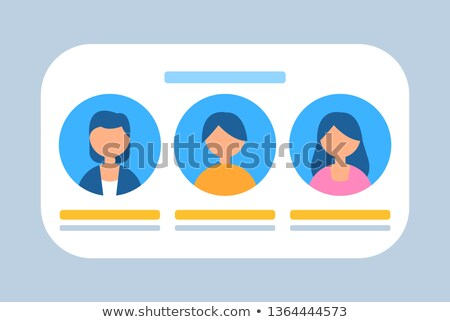 Felhasználók csetepaté betűk szalag vektor képek Stock fotó © robuart