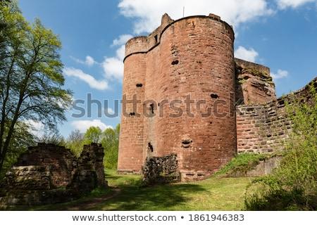 castle ruin neudahn in dahn rockland stock photo © lianem