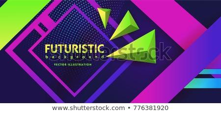 ストックフォト: ベクトル · 抽象的な · 現代 · 紫色 · モザイク · 紙