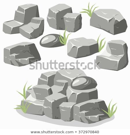 серый каменные изолированный белый текстуры природы Сток-фото © vapi