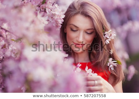 アジア · 女性 · 桜 · ツリー · 頭 · 肩 - ストックフォト © artfotodima