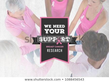 必要 サポート 文字 乳癌 認知度 女性 ストックフォト © wavebreak_media