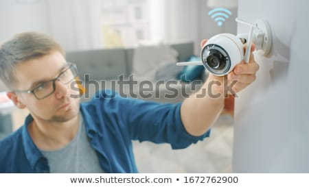 two security cameras stock photo © magraphics