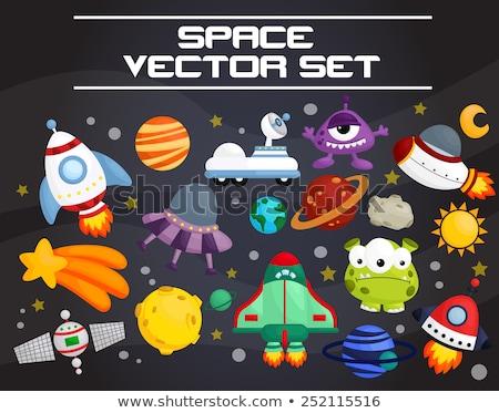 Espaço navio foguete vetor arte ilustração Foto stock © vector1st