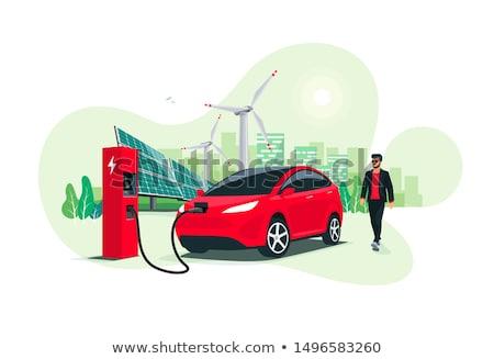 Eco recharge stations in smart city concept vector illustration. Stock photo © RAStudio