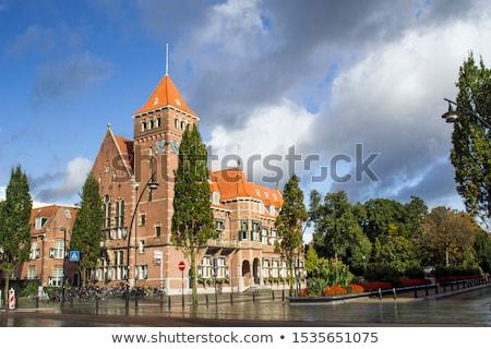 Cidade ouvir Holanda edifício céu urbano Foto stock © borisb17