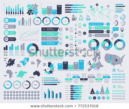 business infographic elements template set stock photo © trikona