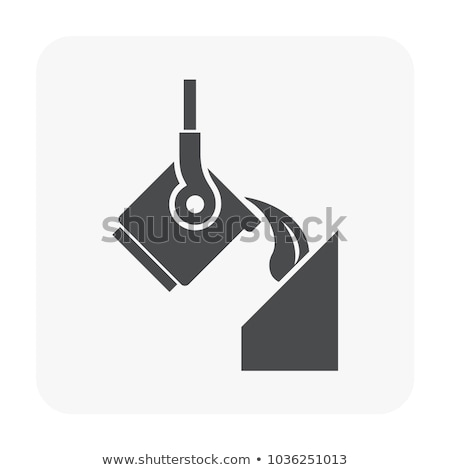 Foundry Metallurgical Icon Vector Illustration Stock photo © pikepicture