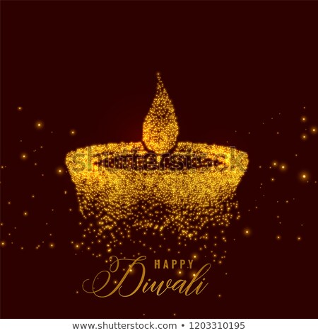 creative diya lamp made with sparkles background Stock photo © SArts