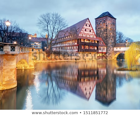 Max bridge (Maxbrucke), Nuremberg, Germany Stock photo © borisb17