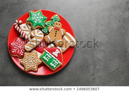 christmas cookie and text X-mas Stock photo © nito