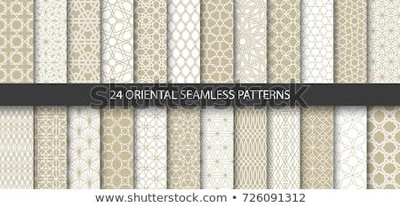 Set orientalisch geometrischen geometrischen Ornamente Stock foto © Artspace