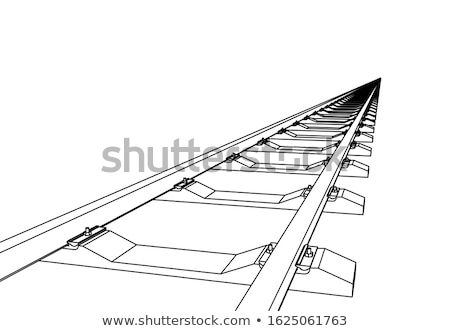 Spoorweg vooruit 3D witte ontwerp achtergrond Stockfoto © m_pavlov