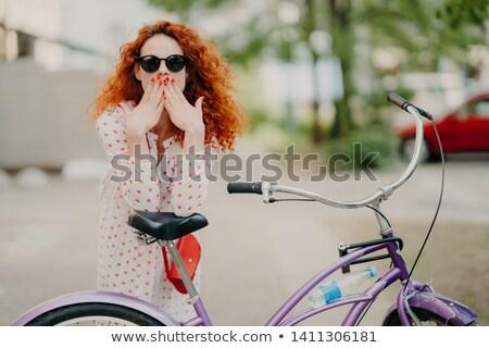 Открытый выстрел великолепный красный женщины рот Сток-фото © vkstudio