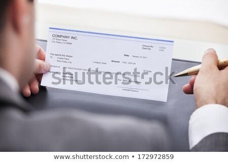クローズアップ 手 充填 チェック 男性 外に ストックフォト © AndreyPopov