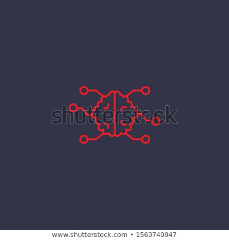 Human Binary Code Icon Vector Outline Illustration Stock photo © pikepicture