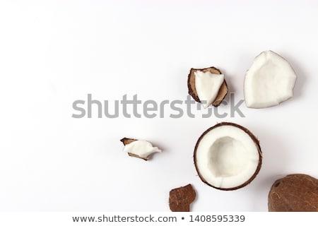 Hindistan cevizi beyaz bir bütün meyve arka plan Stok fotoğraf © hamik
