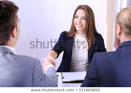 recruiter having job interview with employee Stock photo © dolgachov