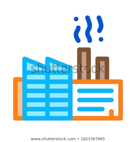 Stock fotó: Discharge Of Station Harmful Substances Into Air Icon Vector Outline Illustration