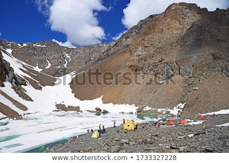 Azul lago montanhas sibéria primavera natureza Foto stock © olira