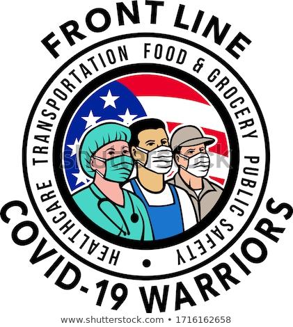 American Front Line Workers USA Flag Stock photo © patrimonio