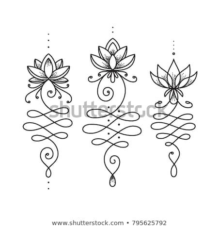 Geometric flower of life, sacred geometry. lotus flower ornament. esoteric or spiritual symbol isola Stock photo © kyryloff