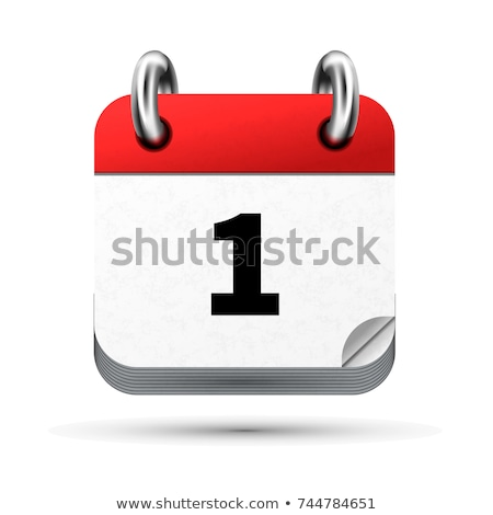 Bright realistic icon of calendar with 1st february date on white Stock photo © evgeny89