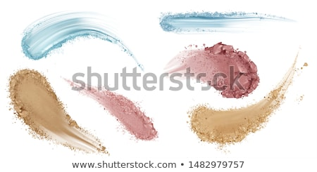 Powder Eyeshadow Cosmetic Makeup Smear Vector Stock photo © pikepicture