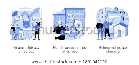 Pénzügyi műveltség vektor metafora pénzügy oktatás Stock fotó © RAStudio