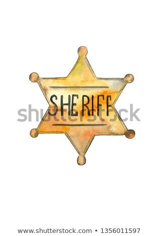 dorado · revólver · arma · aislado · blanco · metal - foto stock © lirch