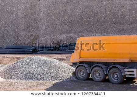 Truck unload rocks Stock photo © deyangeorgiev