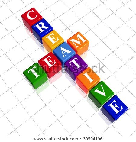 color creative team like crossword Stock photo © marinini