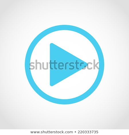 Play icon button blue, isolated on white background. Stock photo © zeffss