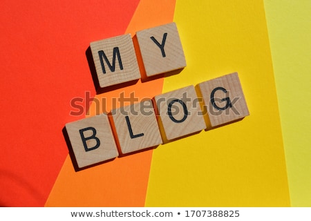 text my success on colorful wooden cubes stock photo © deyangeorgiev