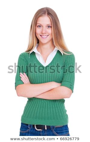 Gracieux accueillant jeunes blond femme Photo stock © lithian