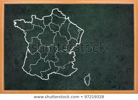 Parijs · Frankrijk · vintage · kaart · 1920 · Rood - stockfoto © ansonstock